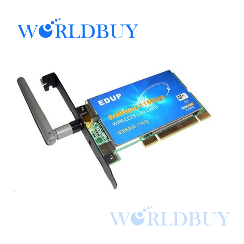 High Quality Wireless Lan Adapter 54Mbps Wireless PCI LAN Card WiFi Adapter for PC Free Shipping DHL EMS HKPAM CPAM(China (Mainland))