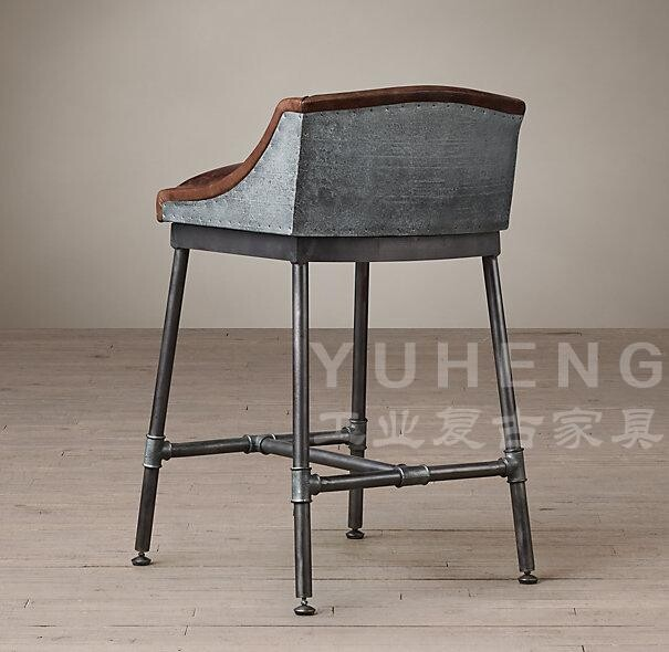 American Coffee Industry Leather Bar Chairs Chair Stool
