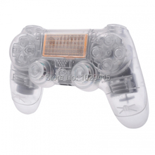 Custom Clear Replacement Shell for Sony Play Station 4 PS4 Wireless Controller Mod Kit Transparent Cover for Dualshock 4 control