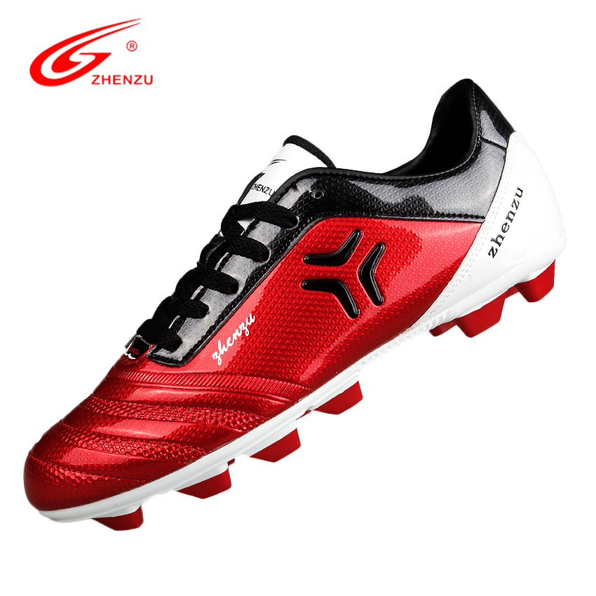 ZHENZU Botines Soccer Chaussure De Foot FG Football Boots HG Soccer Shoes Training Shoes for Men Teenagers, Size 35-44(China (Mainland))