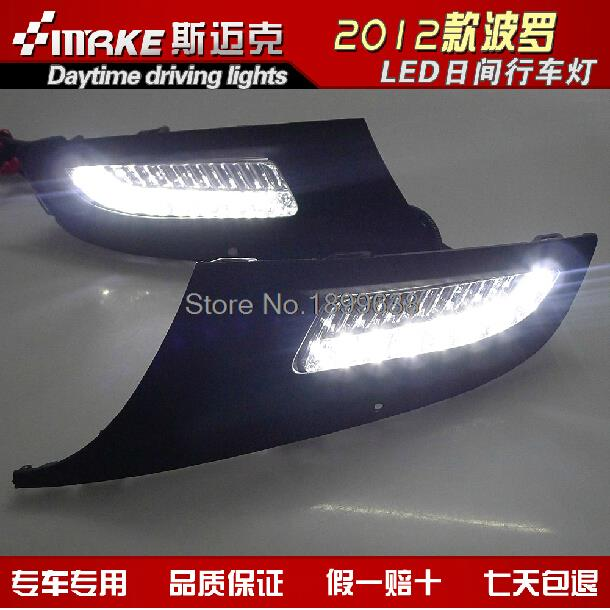 High quality and Waterproof LED Car DRL Daytime running lights for Volkswagen Polo Mk5 Vento 2010 2011 2012 2013<br><br>Aliexpress