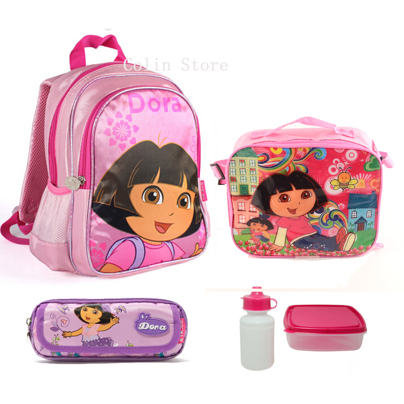 Children School Bags sets Cute Cartoon Backpack School Bags For Girls Mochila Feminina back to school High Quality 12.99inch(China (Mainland))