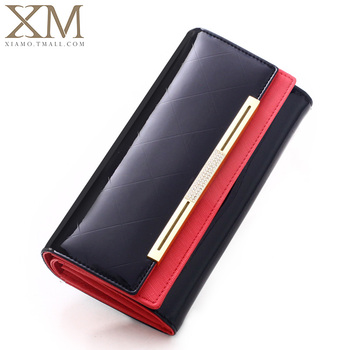 Size(19*10*3.5 CM) 2014 NEW Fashion Genuine Leather Wallet Women Long Style Cowhide Purse Wholesale And Retail Leather Bag
