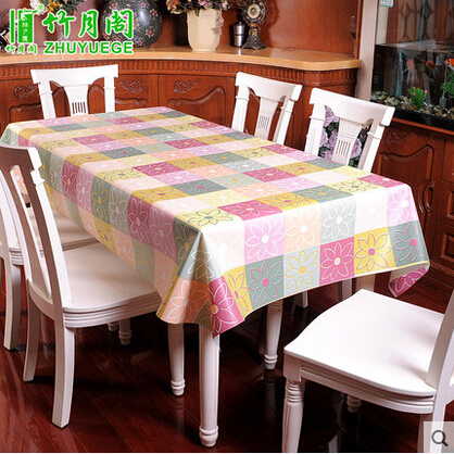 made to order waterproof Oilproof dining soft PVC Table Cloth Rectangular Tablecloth washable EVA table covers home decoration(China (Mainland))