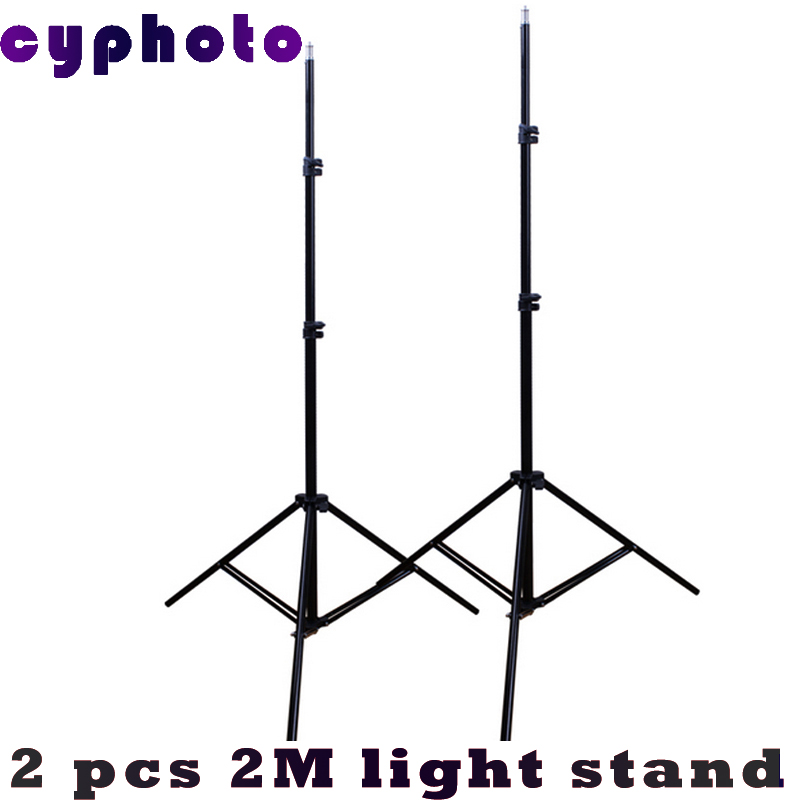 NEW background stand 2pcs Photo Video Lighting Stands Studio Light Stand 7ft. 200cm stands for background<br>