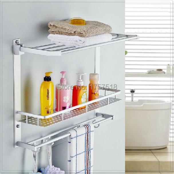 Estantes de aluminio para ba o for Estante porta toallas para bano