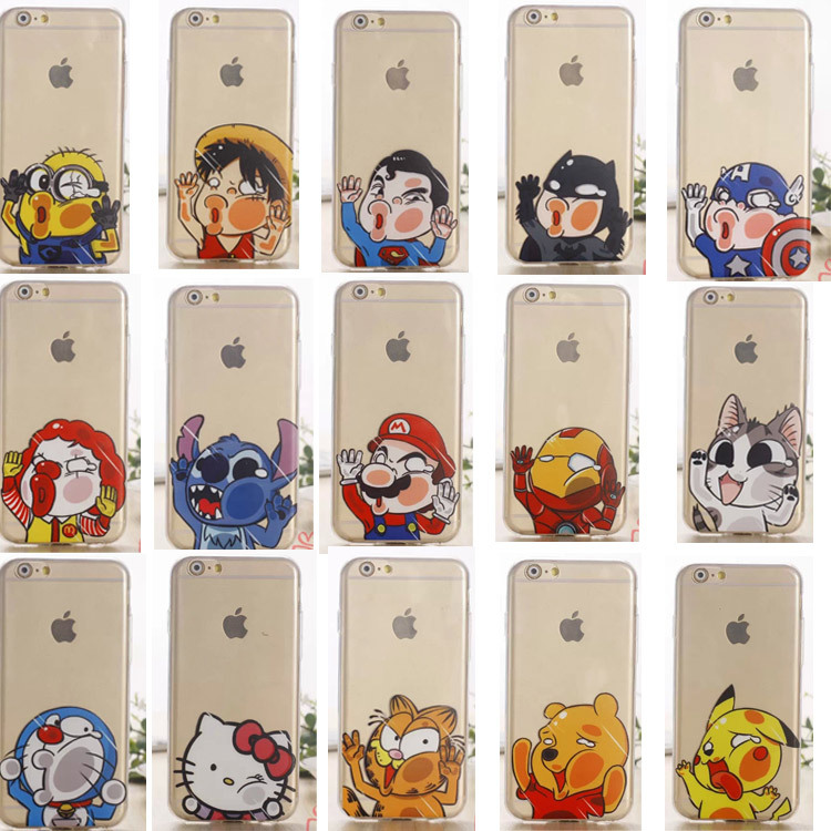 New 15 style For Apple iphone 5 5s case Transparent tpu cartoon hello kitty Batman iron man Despicable Me phone cases covers(China (Mainland))