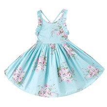 Buy Summer Kids Dresses Girls Beach Girls Dress Teenager Cotton Princess Vestido Kids Clothing Infant Floral Print Child Clothes for $8.56 in AliExpress store