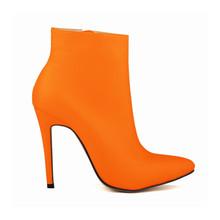 2018 Kadın Ünlü Marka Tarzı yarım çizmeler Sonbahar Şeffaf Yüksek Topuklu OL Ayakkabı Kadın Moda Deri kısa çizmeler NLK-C0085(China)