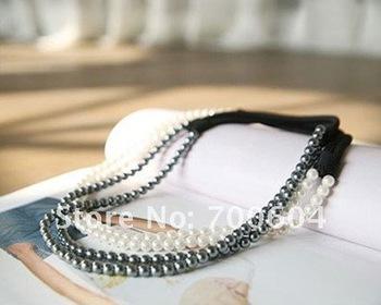 beads fashion imitation pearl hairband, girl's headband casual graceful jewelry ,hair accessory, original factory supply