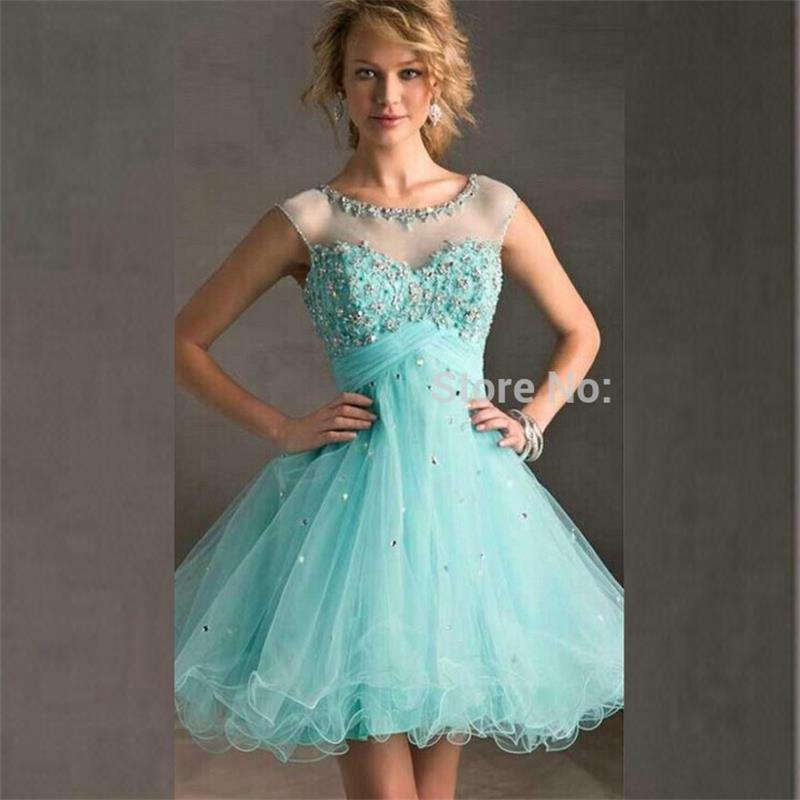 Popular Turquoise Short Homecoming Dresses-Buy Cheap Turquoise ...