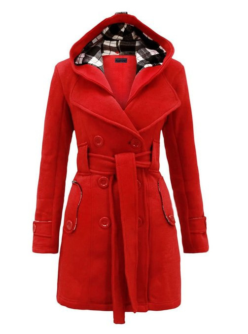 2015 Hot Womens Winter Double-breasted Hooded Long Section Jacket Outwear Coat 5 Solid ColorsОдежда и ак�е��уары<br><br><br>Aliexpress