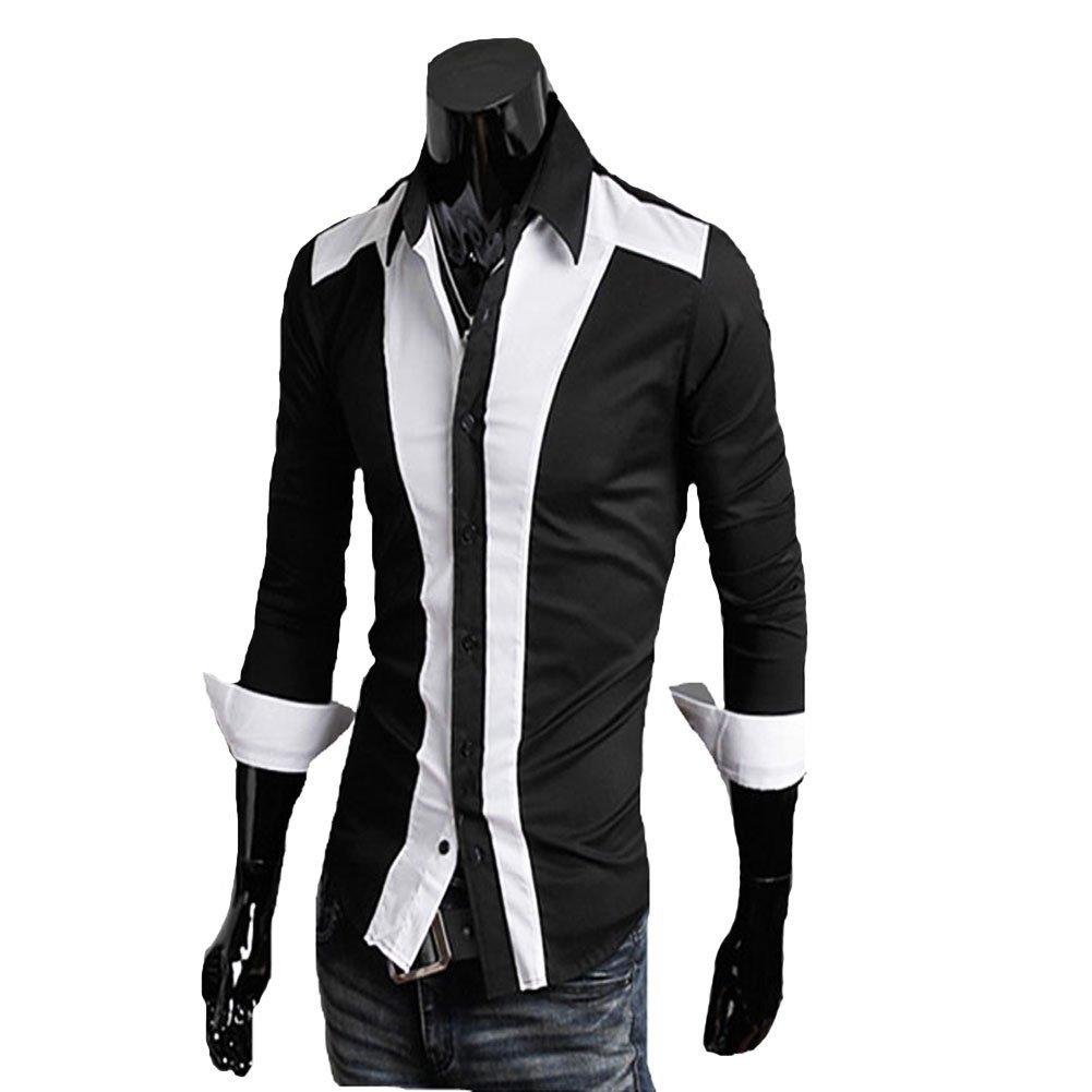 Mens casual collared shirts is shirt for Dress shirt vs casual shirt