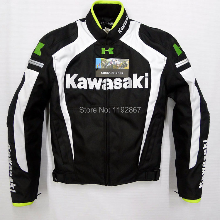Free shipping kawasaki men motorcycle jacket winter jacket racing jackets waterproof oxford jackets(China (Mainland))