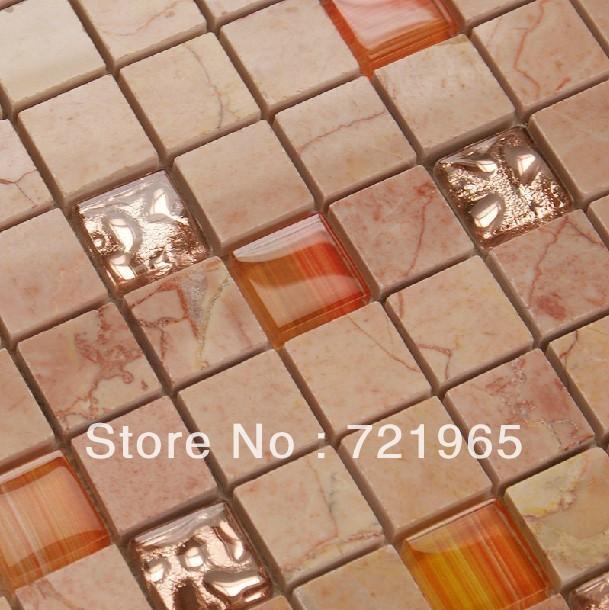 Design deco glass mosaic kitchen backsplash wall tiles SGMT026 stone glass mosaic backsplash tiles polished glass mosaic tile