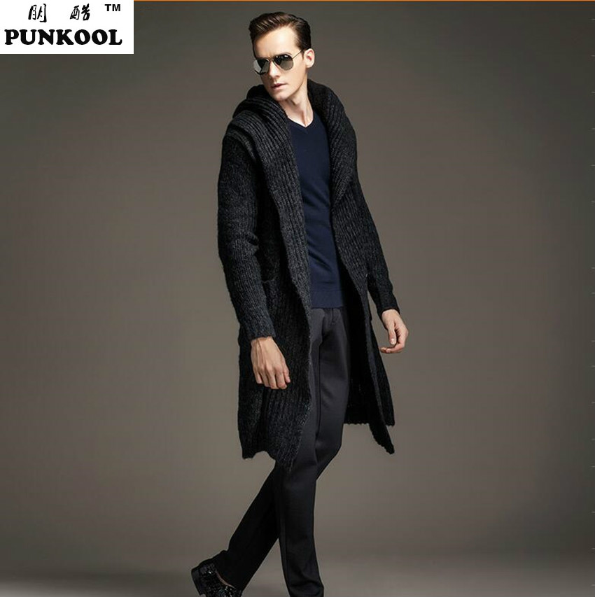 New Design Men  Long Cardigan Trench Coat Autumn Fashion Men Plus Size  Sweater Cardigan Men Kintted Sweaters Two Colors 217Одежда и ак�е��уары<br><br><br>Aliexpress