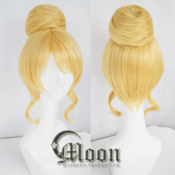 LOVE LIVE! Ayase Eli Cosplay Wig Anime Wigs Bun Blonde Lolita Synthetic Hair LoveLive - Hangzhou Angelababy KIDS Clothing Co.,Ttd store