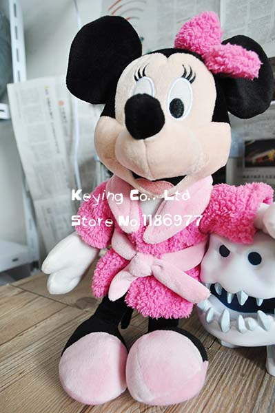 Rare Special Pajamas Mickey Mouse Minnie Mouse Cute Soft Stuffed Animals Plush Toy Doll Gift for Boy Girl Birthday Gift(China (Mainland))