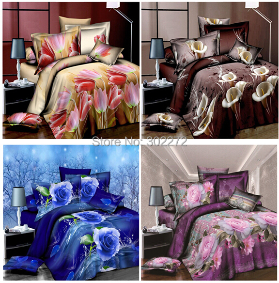 Home textiles,New Leopard grain rose 3D bedding sets,King size 4 Pcs of duvet cover bed sheet pillowcase, bedclothes,King size(China (Mainland))