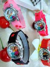 Free Shipping Silicone Pink Cute Watch Cartoon 3D Cartoon Children Kids Girls Quartz Watches Lovely Gift