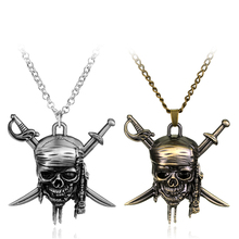 Buy Pirates Caribbean Necklace Hot Sale Skull Pendant Jack Necklaces Fashion Jewelry Christmas Gift Fans Free for $1.38 in AliExpress store