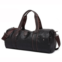 Fashion Men Leather Travel Bag Large Capacity Duffle Handbag Designer Quality Outdoor Sports Messenger sac a main bolsa XA386H