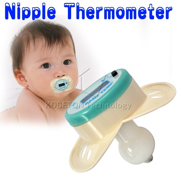 Hygienic Durable Digital LCD Display Infant Baby Soother Nipple Temperature Safe Pacifier Mouth Thermometer Beeper function(China (Mainland))