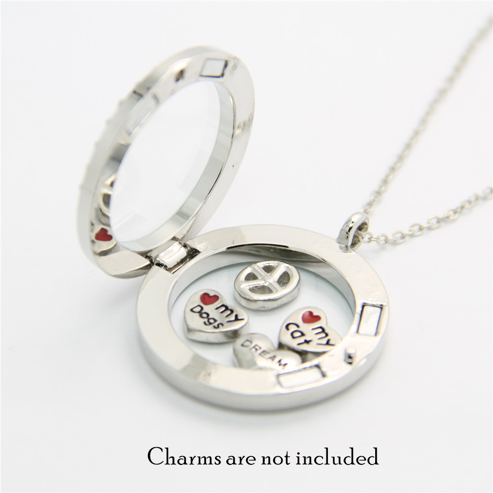 canlyn jewelry 3 pcslot floating charms locket living