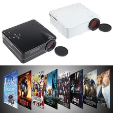 Feitong 2015 Newest 1080P MiNi Cinema Theater Home Projector LED LCD USB Support HDMI HD PC AV TV VGA  Black&White Free Shipping(China (Mainland))