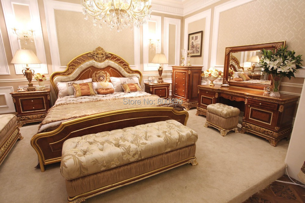 Buy bisini luxury solid wood design bedroom furniture set from reliable Fine home furniture bedding pty ltd