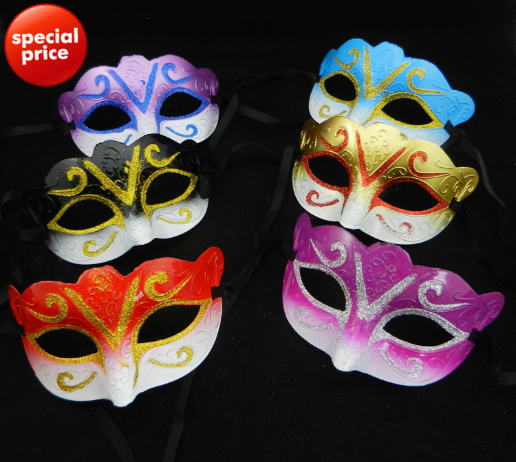 promotion sale gold party mask venetian masquerade ball decoration mardi gras costume birthday gift free shipping 100pcs/lot(China (Mainland))