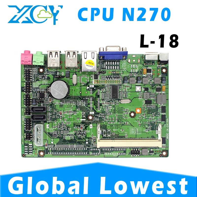 XCY L-18 atom N270 mini pc motherboard, N270 mini itx motherboard, Mini-ITX micro atx mainboard support win XP system(China (Mainland))