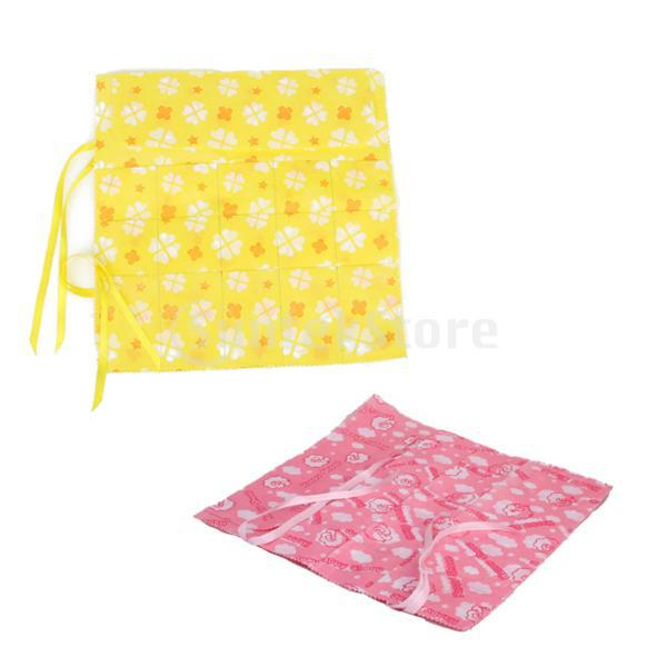 Free Shipping 15 Slots Circular Knitting Needle Bag Holder Case w/ Flower Print(China (Mainland))
