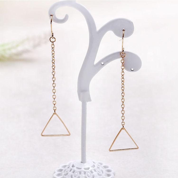 Earings fashion jewelry ear cuffs gold Triangle Earrings boucle d'oreille clip on earrings simple stud earrings for women 2015(China (Mainland))