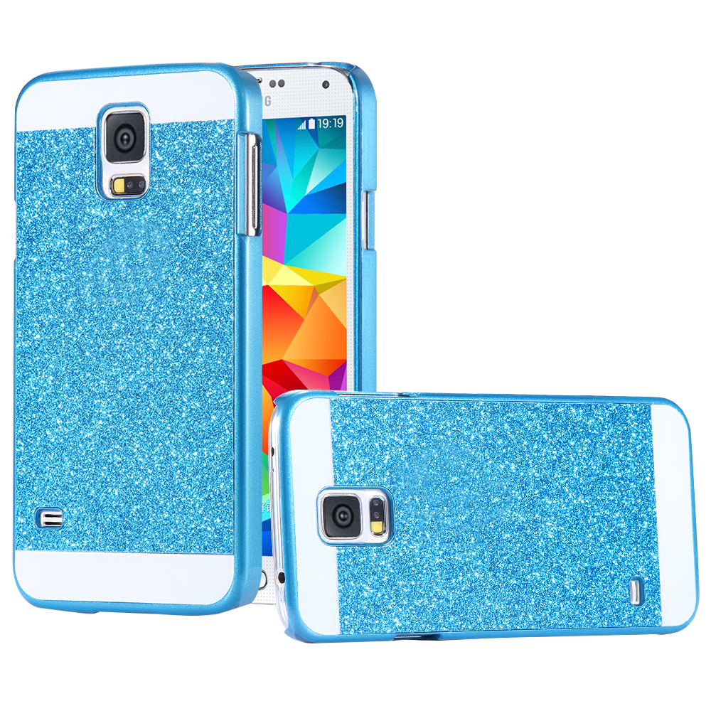 Luxury Bling Case For Samsung Galaxy S5 I9600 SV Glitter Powder Slim Hard Back Phone Cover For Galaxy S5 With Logo Fashion Women(China (Mainland))