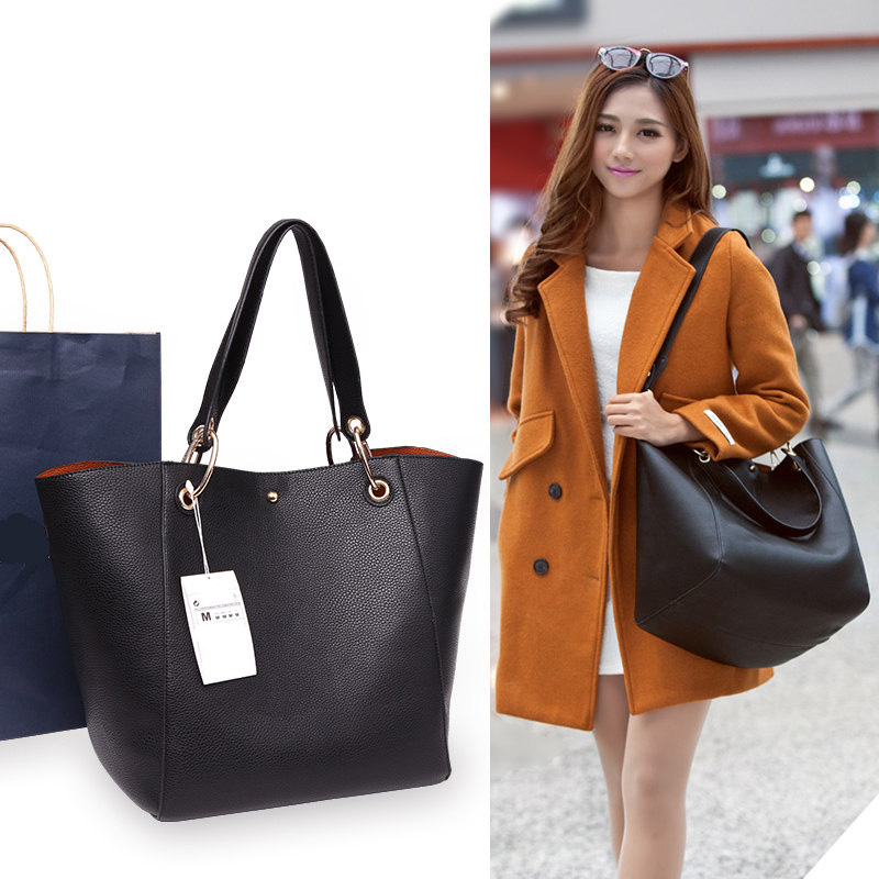 Large Capacity Bag Genuine Leather For Women 2016 Brands Fashion Tote Bag Handbag Shoulder Bag Large Capacity Handbag(China (Mainland))
