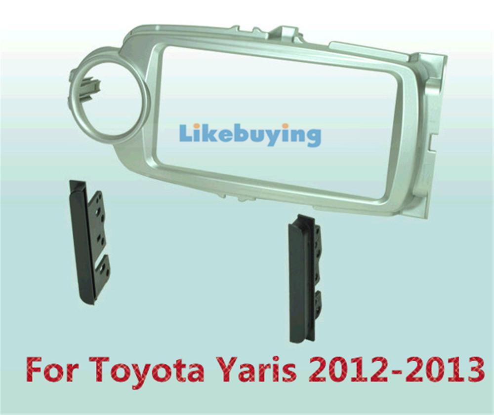 2 Din Car Frame Dash Kit /Car Fascias / Mount Bracket Panel For Toyota Yaris 2012 2013<br><br>Aliexpress