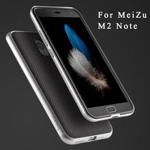 Meizu M2 note,Original ipaky Brand Meizu m2 note2 Armor Plastic Frame + silicone back cover cases For Meizu m2 Note 2 case 5.5