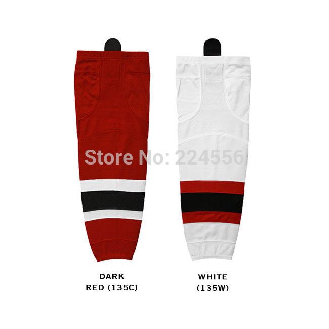 mens new jersey devils adult ice hockey socks Equipment Team home/away hockey socks-can be Custom Any Team & Color & Size(China (Mainland))