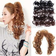 Hot !1PC Elastic Hair Ties Fashion Makeup Hair Bun wigs Wavy Bun/ Bang Ponytail Multi-way hair Accessories No tracking number(China (Mainland))