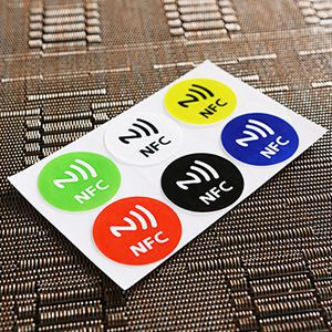 Universal 6PCS Waterproof NFC Tag Stickers RFID Adhesive Label for Samsung iPhone 6 plus Universal For Sale(China (Mainland))