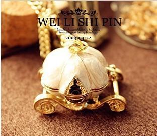 fashion accessories vintage magic pumpkin car necklace female