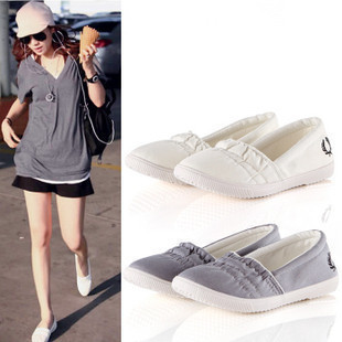 Flat heel casual  sneakers  canvas shoes flat shallow mouth low single casual loafer  female
