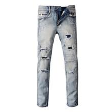 Newest Hot sale  Fashion mens jeans European style More style biker jeans famous brand men tide Slim stretch balmaied jeans men(China (Mainland))