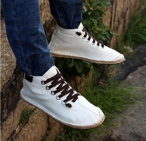2016 mujeres de Hombre nuevos zapatos de lona ocasionales de la trenza de paja pisos alpargatas