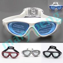 Cool Waterproof Men Women Swimming Goggles Anti-fog UV Silicone Swim Glasses Pool Water Glasses Mirror Watersports Swim Eyewear(China (Mainland))
