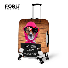 Bad Dog Printed Travel Luggage Protector Cover Apple to 18-30inch Trolley Suitcase Strech Elastic Dust Covers Travel Accessories(China (Mainland))