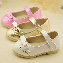 2016 New Spring Summer Kids girls Fashion sandals PU Leather shoes for kids girls 3 color for Kids baby sandals B-603