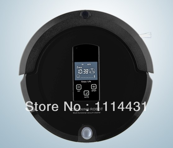 Free Shipping 2014 Newest 4 In 1 Multifunction Robot Vacuum Cleaner with Newest Technology Shining Logo ,Two Virtual Working(China (Mainland))