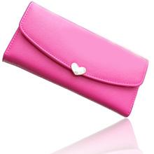 New Arrival PU Leather Women Wallet 10 Colors Cute Diamond 3 Folds Wallets Long Design Ladies